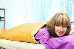 Spa. Beautiful young woman getting spa treatment at a salon. Beauty, healthcare Royalty Free Stock Photo
