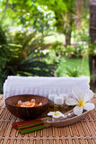 Spa. Set of aroma in spa for relax Royalty Free Stock Images