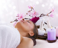 Spa. Beautiful Spa Woman over white background Stock Image