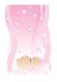 Spa. Lady takes spa treatments in beauty parlour Stock Illustration