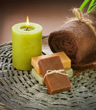 Spa. Treatments. Home-made Soap. Close-up Image Stock Photography