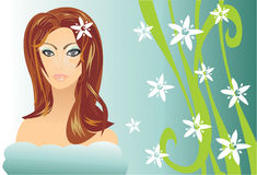 SPA. Beauty women in spa salon Royalty Free Stock Images