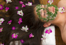 Spa. Facial and body care (spa treatment Stock Photography