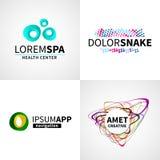 Σύνολο της σύγχρονης δημιουργικής ζωηρόχρωμης αφηρημένης SPA Στοκ Εικόνες