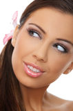 Daily Spa. Portrait of beautiful woman before spa treatment Royalty Free Stock Image