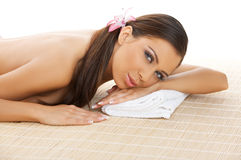 Daily Spa. Portrait of beautiful woman before spa treatment Stock Photos