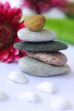 Spa. Stones and spa salt royalty free stock photography