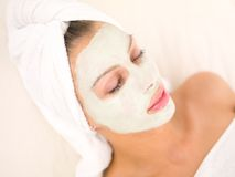 Daily Spa. Portrait of beautiful woman during spa treatment Royalty Free Stock Image