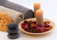Spa - 8. This image present some aspects of spa treatment Royalty Free Stock Image