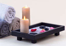 Spa - 9. This image present some aspects of spa treatment Royalty Free Stock Photo