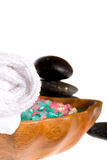 Spa accessories. Isolated on the white background Stock Photos