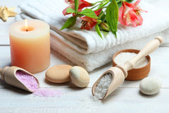 Spa accessories Royalty Free Stock Images