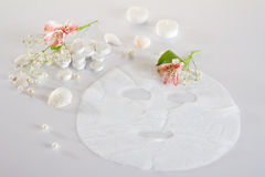 Spa accessories - disposable mask: prepared and pressed Stock Image
