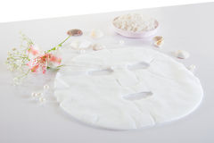 Spa accessories - disposable mask and salt Stock Image
