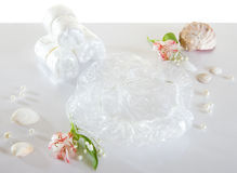 Spa accessories - disposable shower cap Stock Image