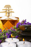 Spa accessories and lavender Royalty Free Stock Photo
