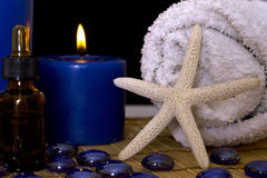 Spa accessories for massage treatments Royalty Free Stock Images
