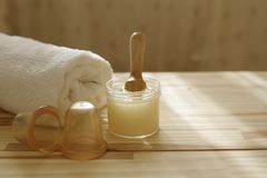 Spa accessories .massages banks, peeling.body treatments Stock Photography