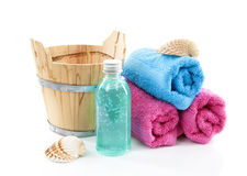 Spa accessories over white background Stock Image