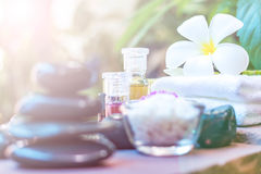 Spa accessories, Rolled towel, pampering stuff Stock Photography