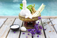Spa accessories with thai herb Stock Images