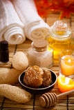 Spa. Accessories for spa treatments aroma royalty free stock images
