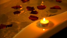 Spa accessories for treatments at the spa salon stock video footage