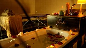 Spa accessories for treatments at the spa salon stock footage