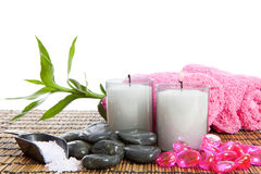 Spa accessories for yoga or sauna Stock Image