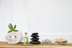 Spa accessories and  zen stones Stock Photo