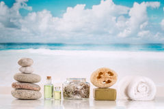 Spa accessories and  zen stones Stock Photography