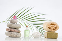 Spa accessories and  zen stones Royalty Free Stock Photography