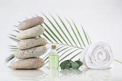 Spa accessories and  zen stones Royalty Free Stock Images