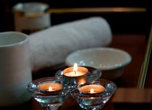 Spa accessory Aroma Lamp. Aroma Lamp spa accessory Aromatherapy products body-care candlelight royalty free stock photo