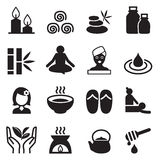 Spa & alternative therapy icons set Stock Photo