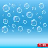 SPA aqua simple background with bubbles Royalty Free Stock Photos