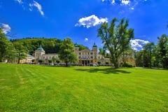 Spa architecture - small spa town in west Bohemia - Marianske Lazne Marienbad - Czech Republic stock photo
