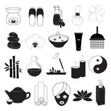 Spa and Aroma Icons Set Royalty Free Stock Images