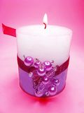 Spa aroma scented candle Royalty Free Stock Image