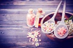 SPA, aromatherapy, προσοχή σωμάτων Στοκ Φωτογραφία