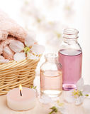Spa and aromatherapy. Closeup of spa and aromatherapy Stock Image