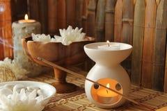 Spa aromatherapy arkivfoton
