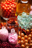 Spa - aromatherapy bath salt and oil Stock Photo