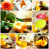 Spa and Aromatherapy Collage Stock Photos