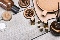Spa and aromatherapy cosmetics and accessories Stock Photography