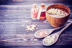 Spa. Aromatherapy essential oils. Stock Image