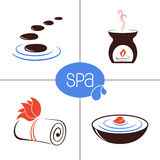 SPA and aromatherapy icons Stock Photos