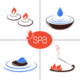 SPA and aromatherapy icons Stock Images