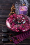 Spa aromatherapy meditation. Royalty Free Stock Photo
