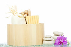 Spa aromatherapy and natural soap bar Stock Images